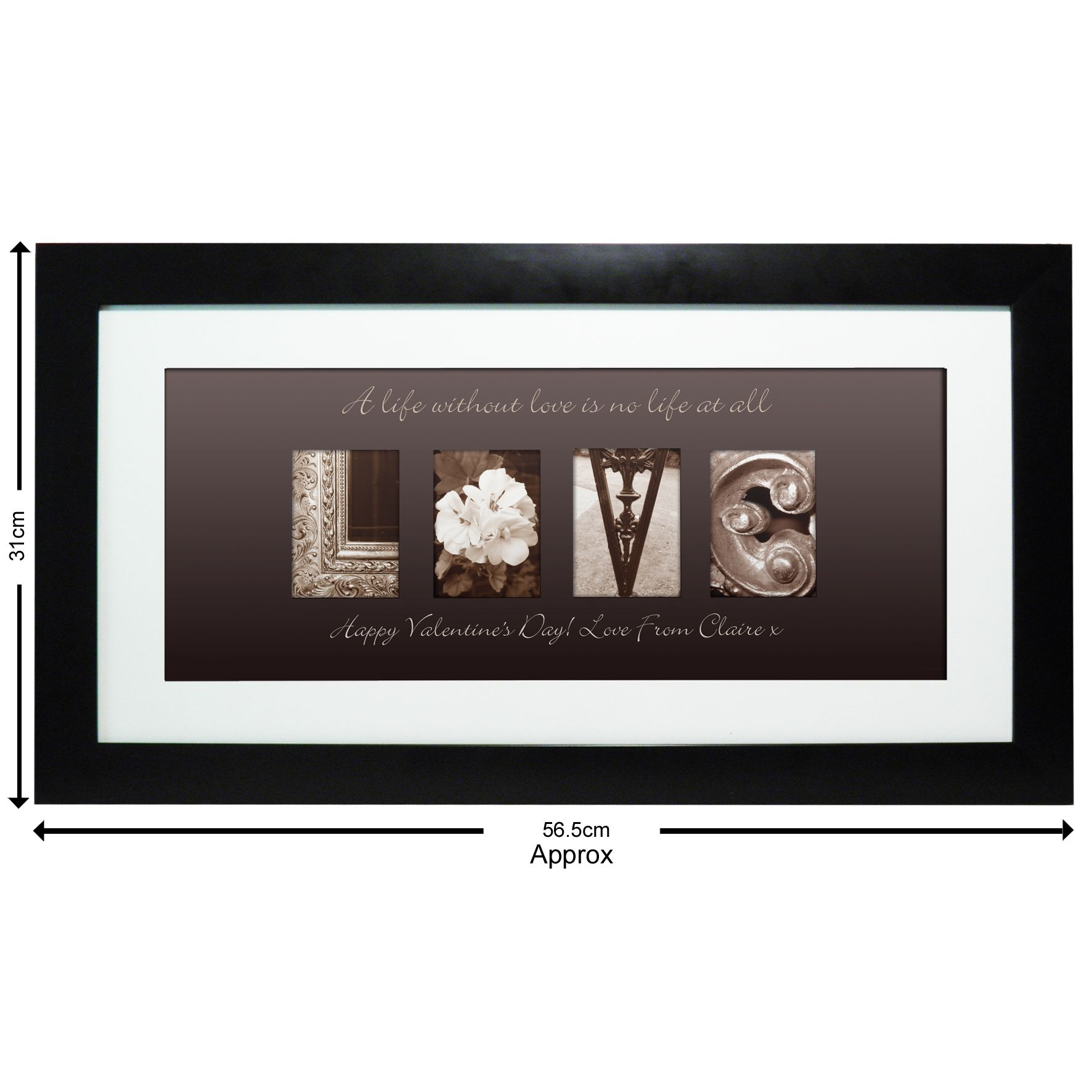 Large Frame Picture Personalised Affection Art Love Large Frame